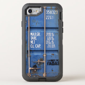 Distressed Rusting Blue Shipping Container OtterBox Defender iPhone 7 Case