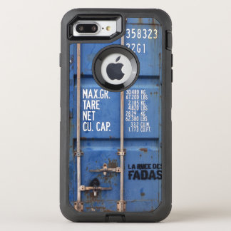 Distressed Rusting Blue Shipping Container OtterBox Defender iPhone 8 Plus/7 Plus Case