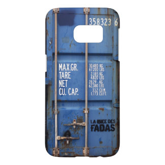 Distressed Rusting Blue Shipping Container Samsung Galaxy S7 Case