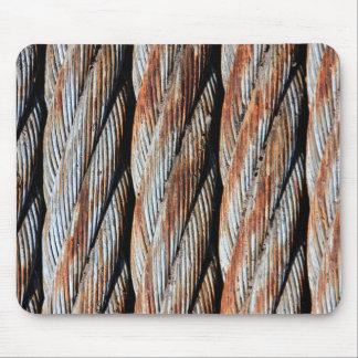 Distressed Rusting Metal Rope - Nautical Print Mouse Pad
