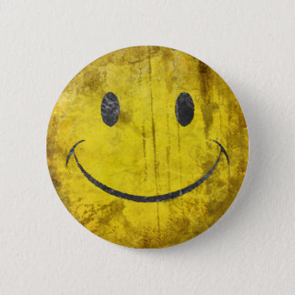 Distressed Smiley Face Button