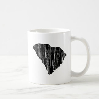 Distressed South Carolina State Outline Coffee Mug