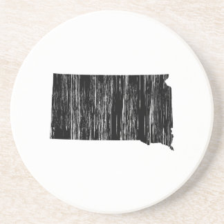 Distressed South Dakota State Outline Coaster