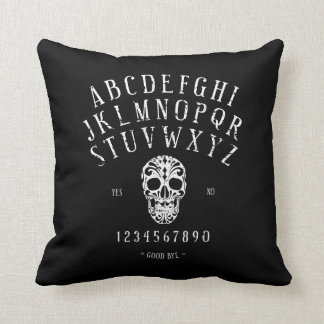 Distressed Spirit Board with Sugar Skull Pillow