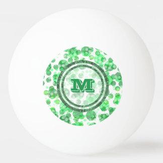 Distressed Spots Monogram Ping Pong Ball