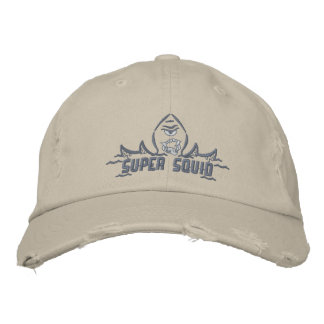 Distressed Squid Cap Embroidered Hats