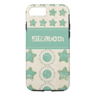 Distressed Stars & Circles Custom iPhone 8/7 Case