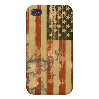 Distressed Stars & Stripes  Covers For iPhone 4