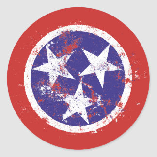 Distressed State Flag Of Tennessee Stickers