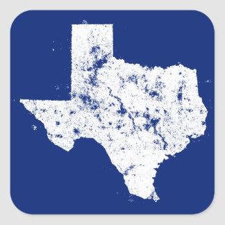 Distressed State Map Silhouette of Texas Stickers