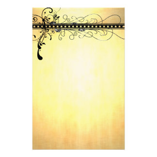 Distressed Stationery with Black Swirls
