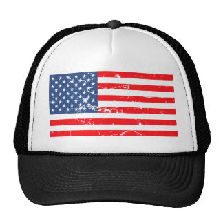 Distressed style USA flag Trucker Hat