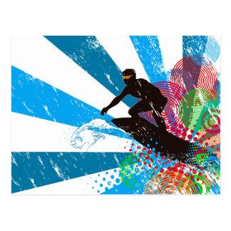 Distressed Surfer Paradise Postcard