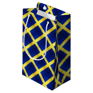 Distressed Swedish Flag Symbol Small Gift Bag