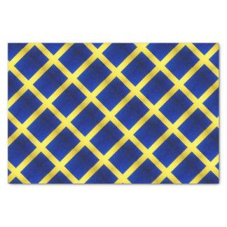 Distressed Swedish Flag Symbol Tissue Paper