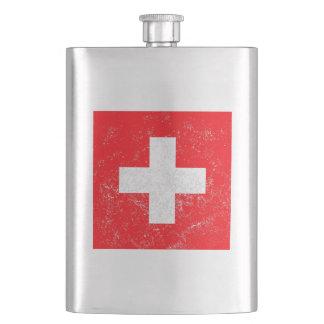 Distressed Switzerland Flag Hip Flask
