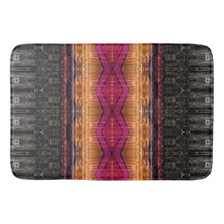 Distressed Tribal Stripe Bath Mat