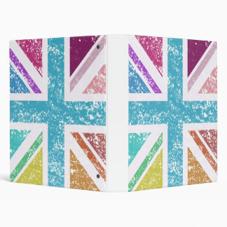 Distressed Union Flag Multicol Square Binders