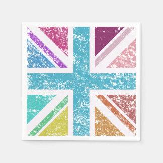 Distressed Union Flag Multicol Square Napkin