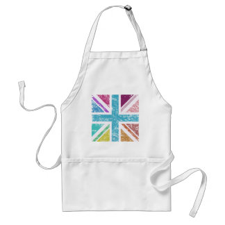 Distressed Union Flag Multicol Square Standard Apron