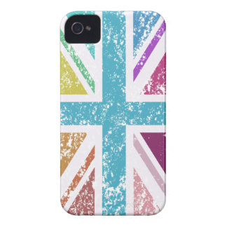 Distressed Union Flag Multicolored Case-Mate iPhone 4 Cases