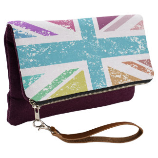 Distressed Union Flag Multicolored Clutch