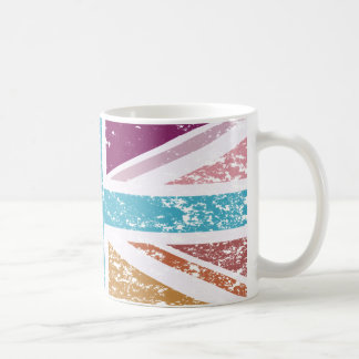 Distressed Union Flag Multicolored Coffee Mug