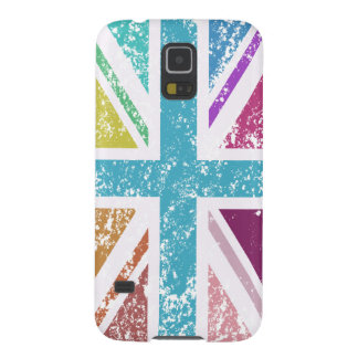 Distressed Union Flag Multicolored Galaxy S5 Cases