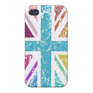 Distressed Union Flag Multicolored iPhone 4/4S Case