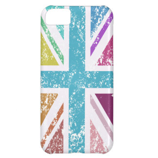 Distressed Union Flag Multicolored iPhone 5C Cover