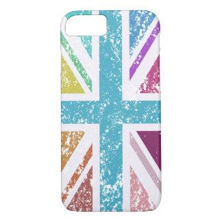 Distressed Union Flag Multicolored iPhone 8/7 Case