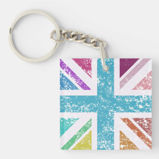 Distressed Union Flag Multicolored Keychain