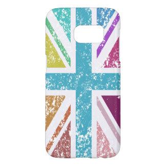 Distressed Union Flag Multicolored Samsung Galaxy S7 Case
