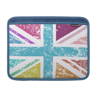 Distressed Union Flag Multicolored Sleeve For MacBook Air