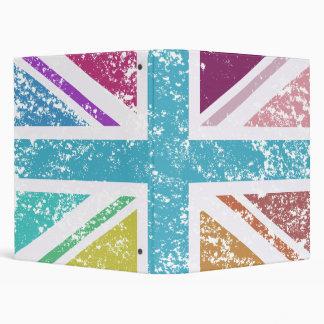 Distressed Union Flag Multicolored Vinyl Binder