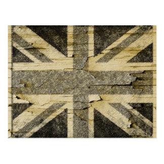 Distressed Union Flag Postcard