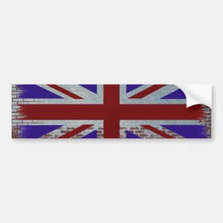 Distressed Union Jack Bumper Sticker