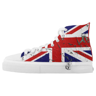 Distressed Union Jack High Tops