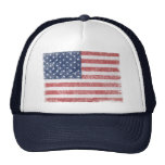 Distressed United States American Flag Mesh Hats