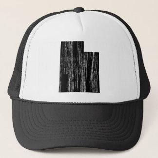 Distressed Utah State Outline Trucker Hat
