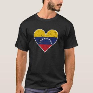 Distressed Venezuelan Flag Heart T-Shirt