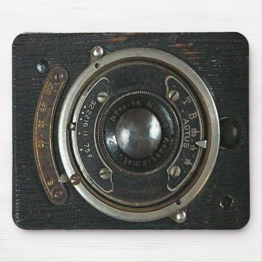 Distressed Vintage Camera Mouse Pad