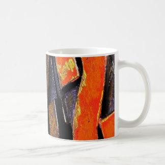 distressed vintage letterpress type coffee mug