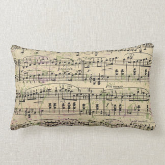 Distressed Vintage Music Pillow
