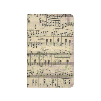 Distressed Vintage Music Pocket Planner Journal