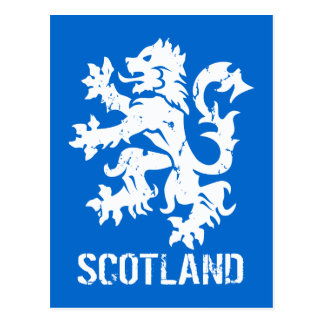 Distressed Vintage Style Scotland Rampant Lion Postcard