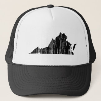 Distressed Virginia State Outline Trucker Hat