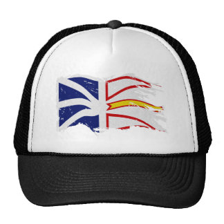 DISTRESSED WAVING NL FLAG cut Trucker Hat