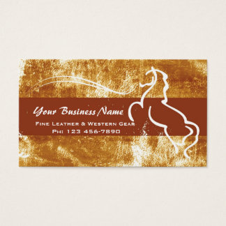 Distressed Western Theme Business Card