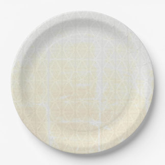 Distressed White Triangles Full Size Plates